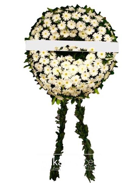 Beyaz Gerberalarla Cenaze Çelengi
