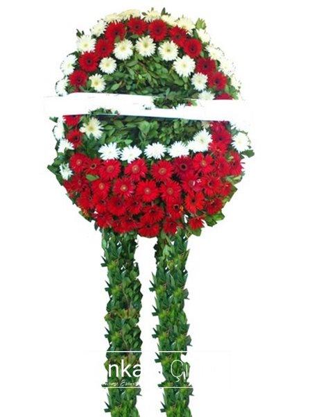 Kırmız Beyaz Cenaze Çelengi