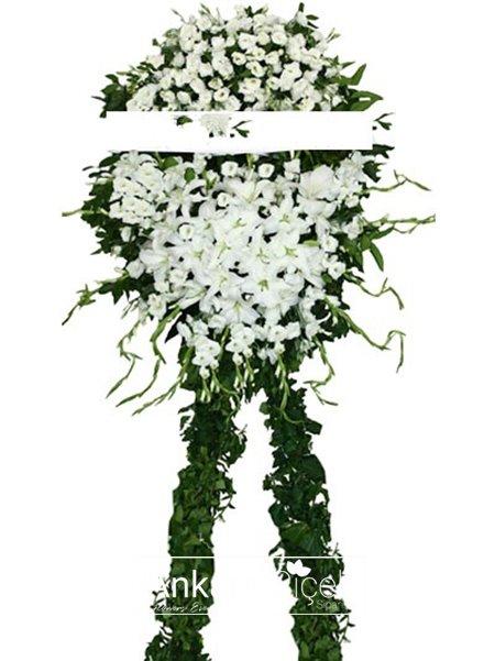 Beyaz Cenaze Çelenk