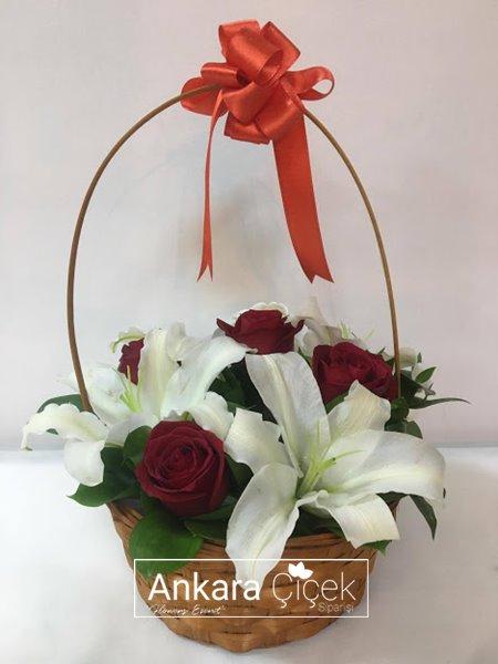 Çiçek Sepeti Kırmızı Gül
